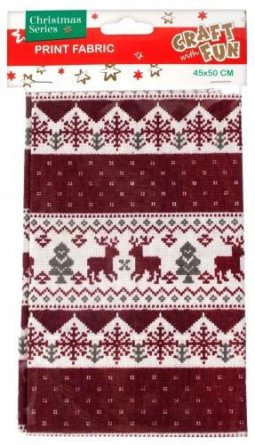 Látka vianočná dekorácia 45x50cm