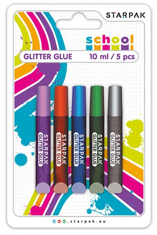 Brokátové lepidlo mix farieb 10ml/5ks