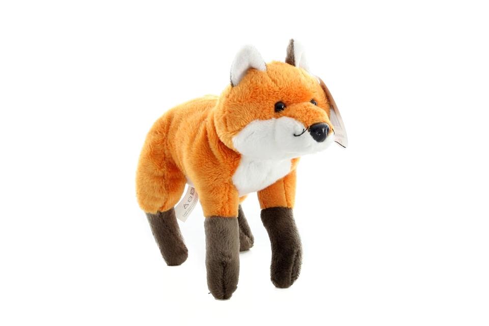 Líška plyšová 23cm