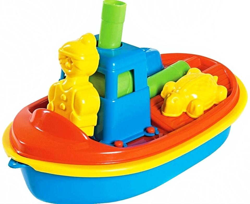 Detská loď s formičkami 30cm - modrá