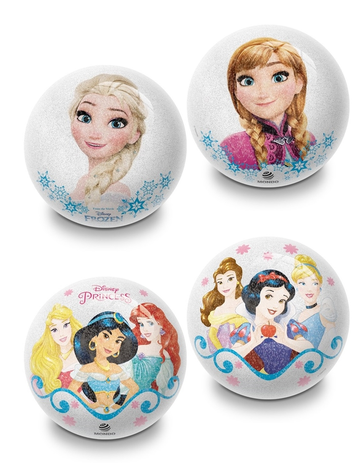 Penová lopta Glitter Frozen a Princess 10cm