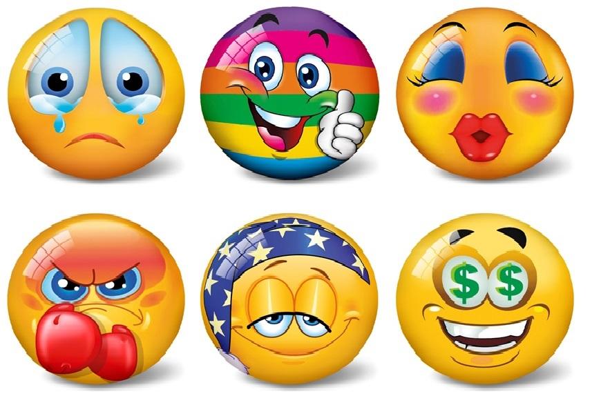 Lopta Emoji 11cm