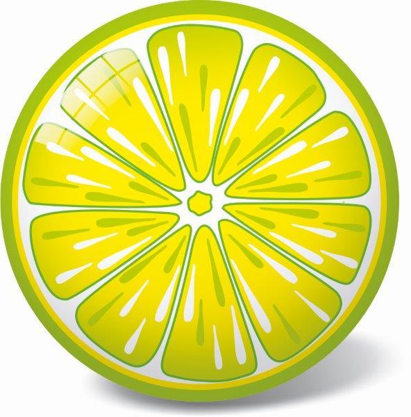 Lopta citrón 23cm