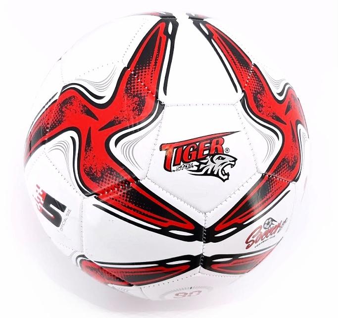 Futbalová lopta Tiger Soccer červená size5