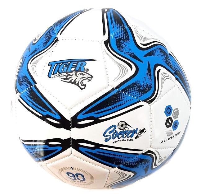 Futbalová lopta Tiger Soccer modrá size5
