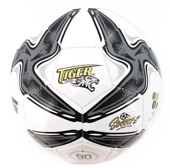 Futbalová lopta Tiger Soccer šedá size5