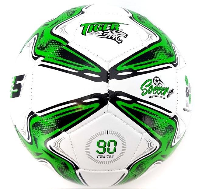 Futbalová lopta Tiger Soccer zelená size5