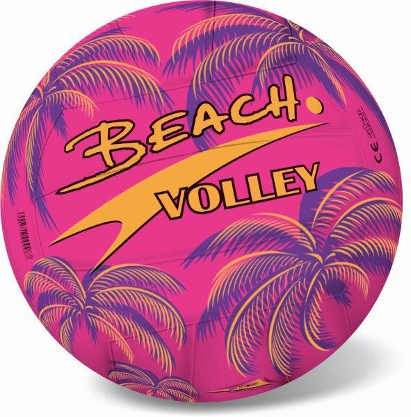 Lopta plážová, volejbal 21cm - ružová