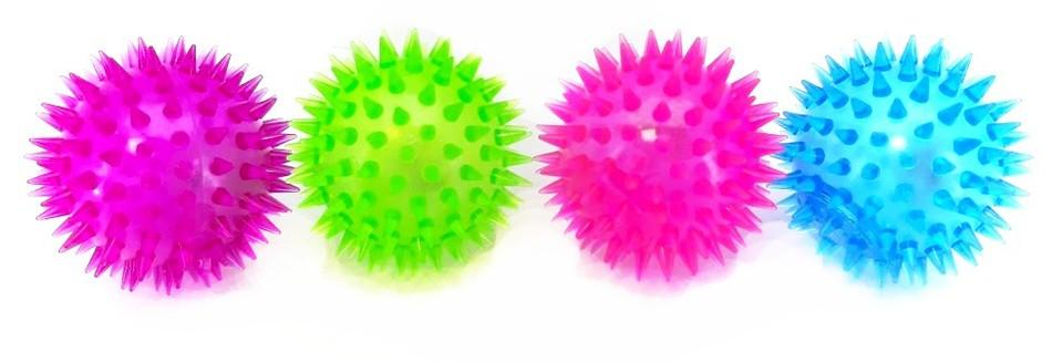 Loptička antistresová svietiaca ježatá