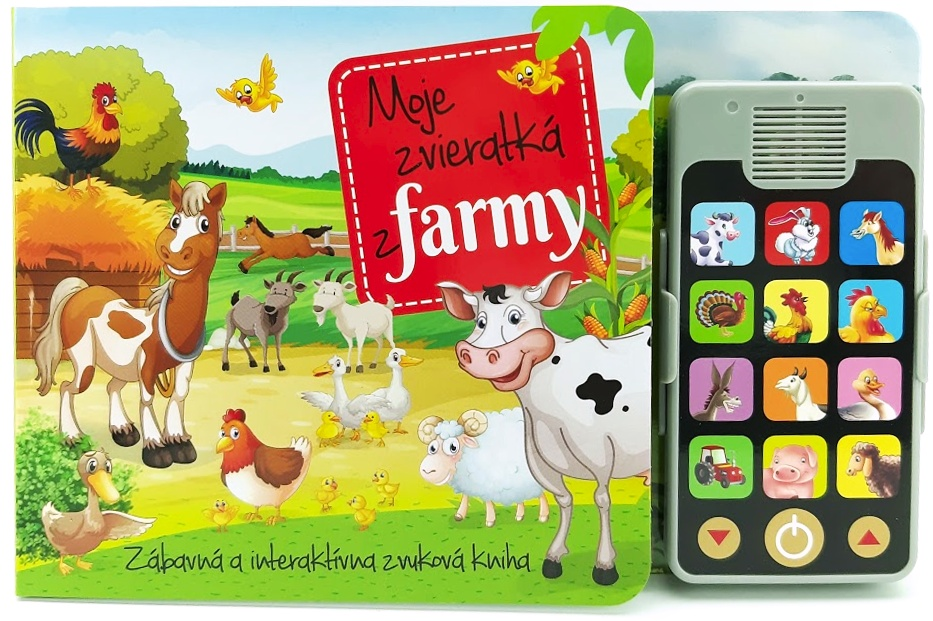 Interaktívna knižka Moje zvieratká z farmy so zvukmi