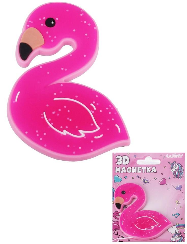 3D magnetka plameniak 8cm