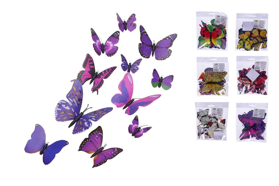 Magnetky motýľ 12ks