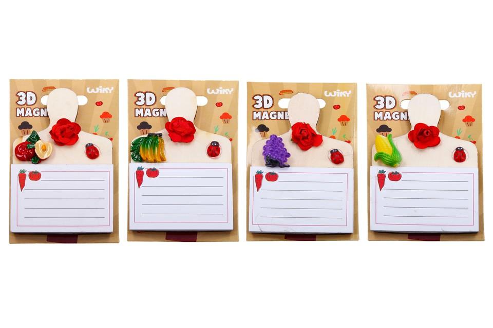 Magnetka drevený loparik + notes