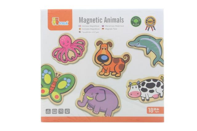 Magnety drevené - zvieratká
