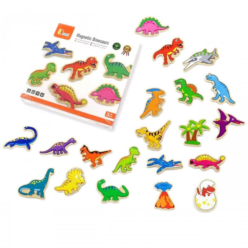 Viga Drevené magnetky dinosaurus 20ks