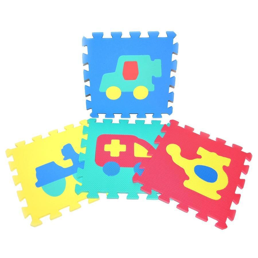Mäkké puzzle bloky dopravné prostriedky 30cm