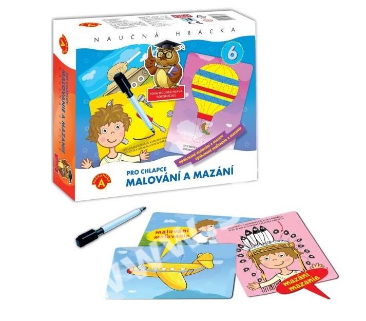 Maľovanie a mazanie pre chlapcov - náučná hračka