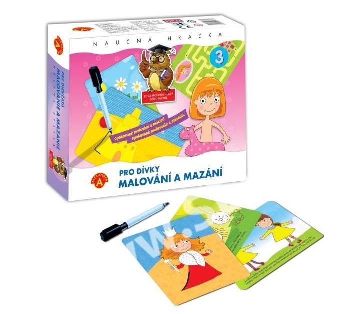 Maľovanie a mazanie pre dievčatá - náučná hračka