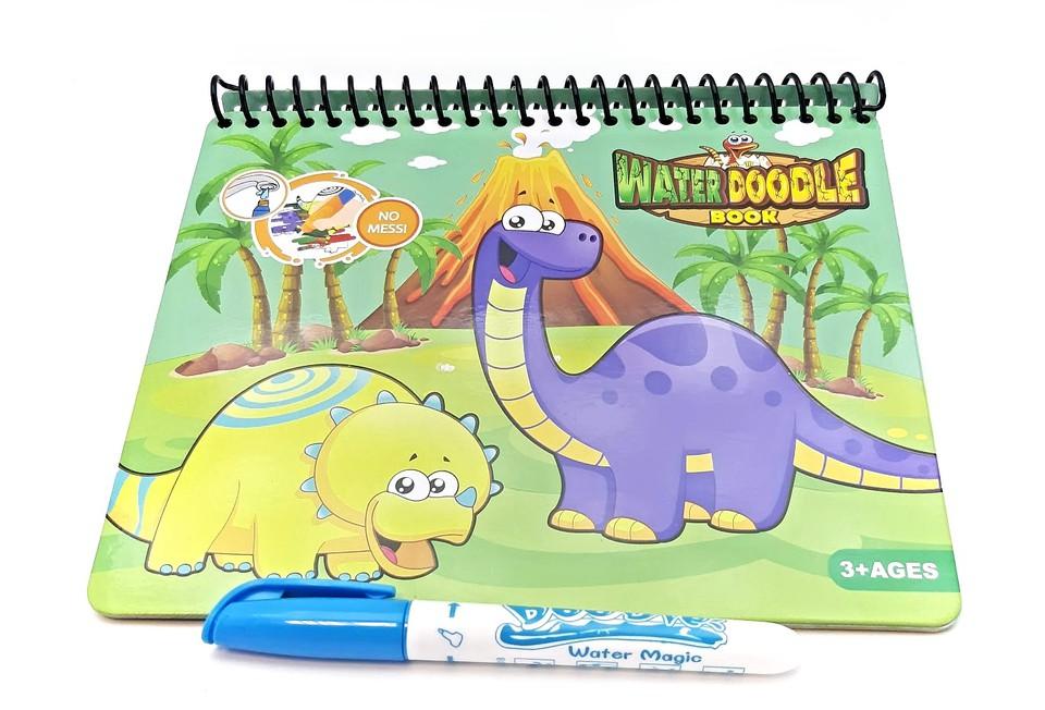 Vodné maľovanie Dinosaury