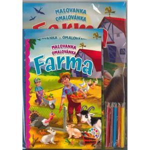 Maľovanka s aktivitami Farma