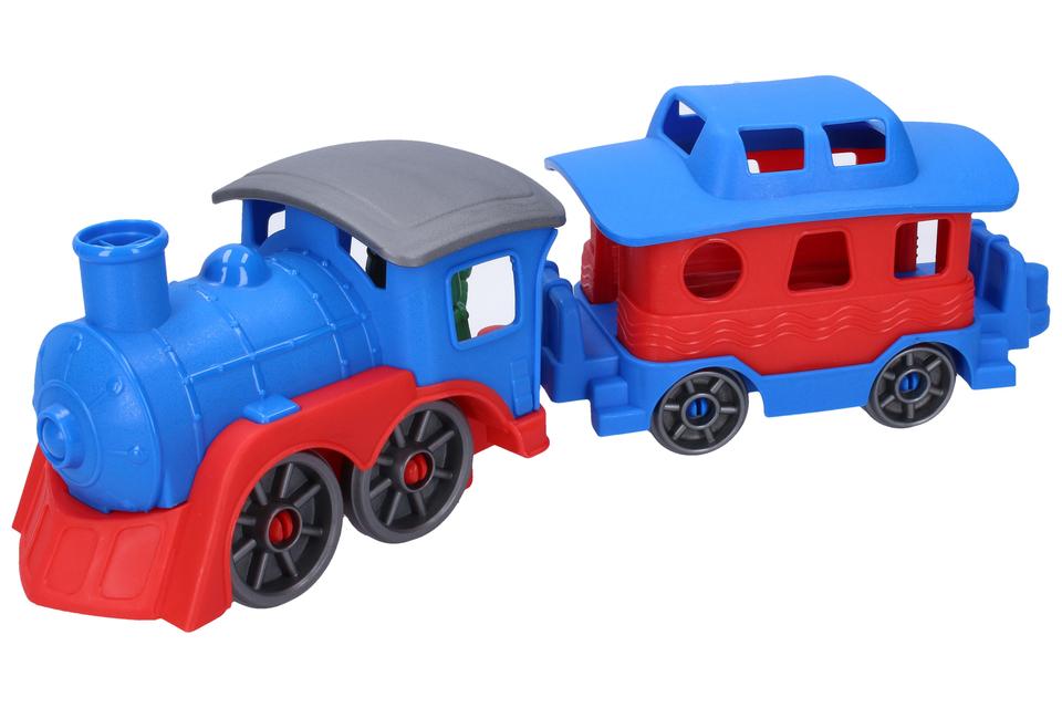 Mašinka s vagónom 39cm