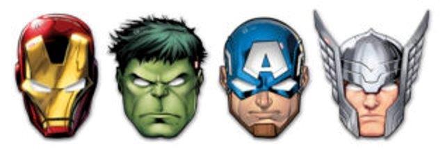 Maska Avengers 6ks