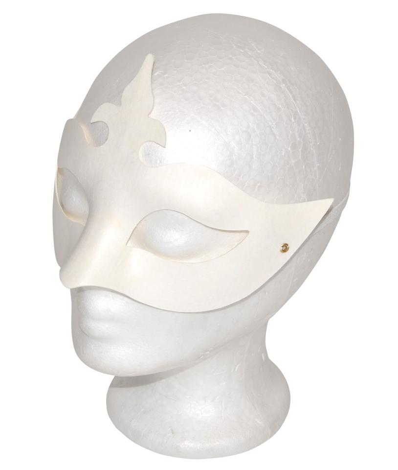 Papierová maska biela, škraboška
