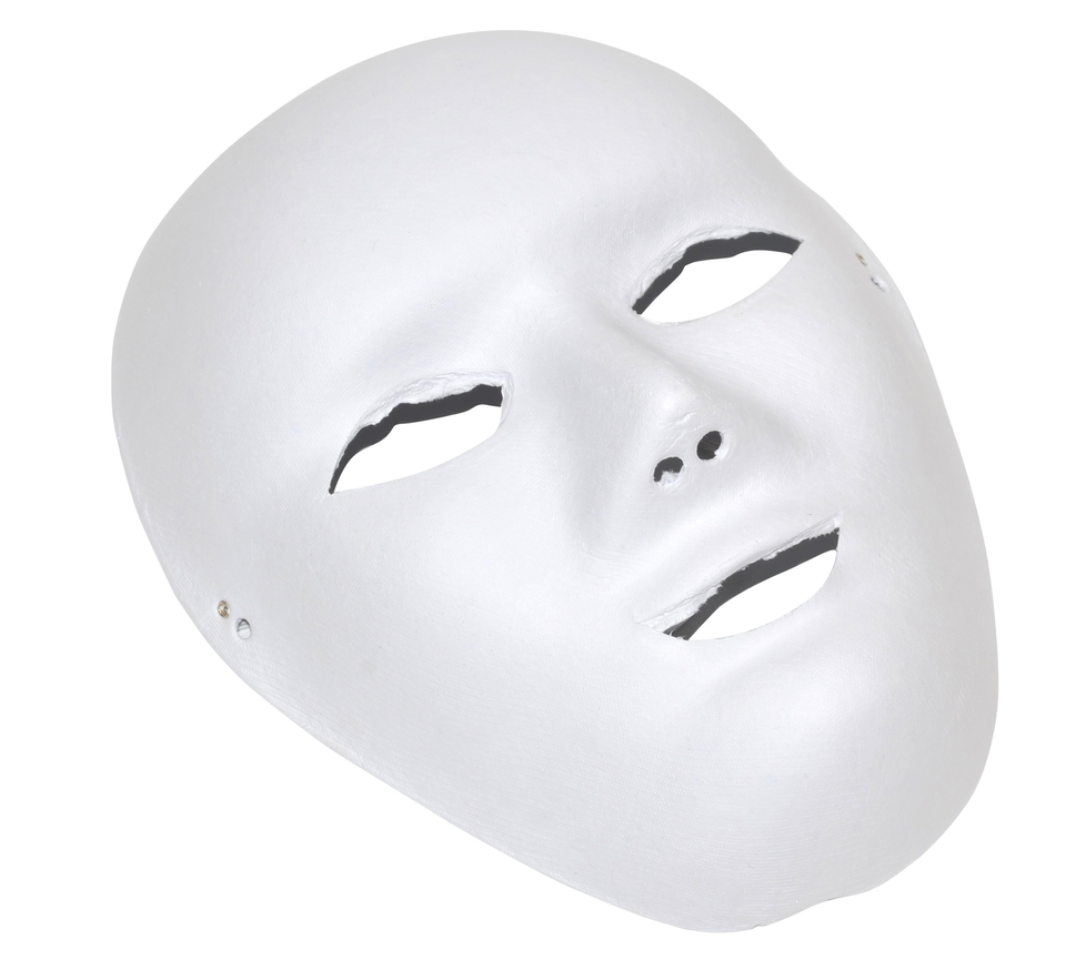 Papierová maska biela
