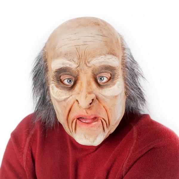 Maska starec s vlasmi