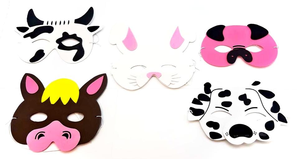 Maska zvieratá Farma 17cm