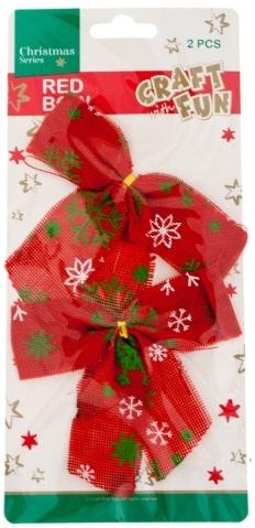 Vianočná dekorácia mašličky 2ks