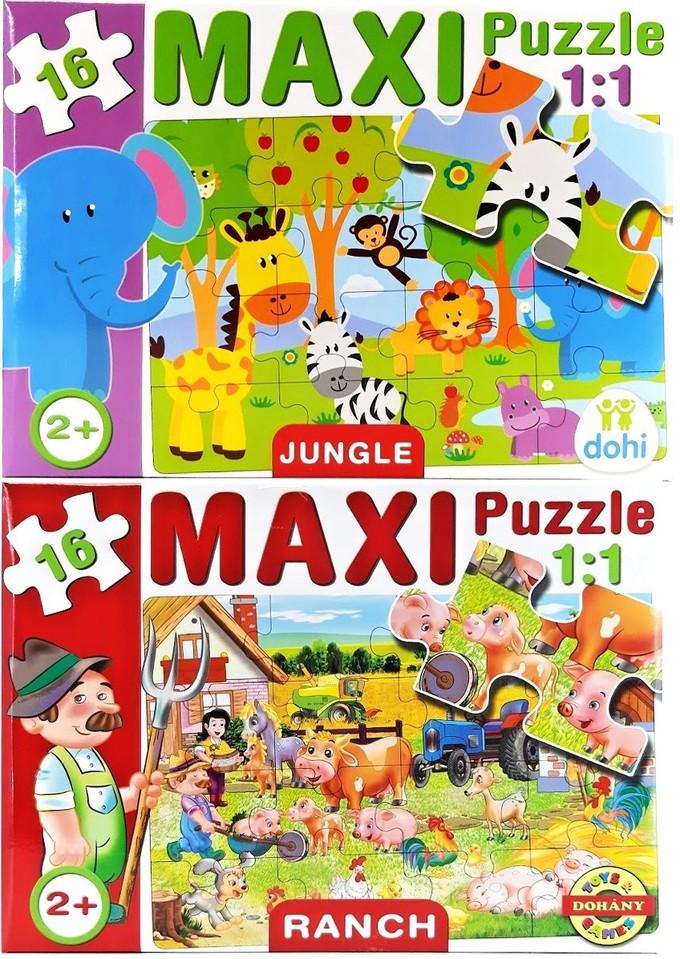 Maxi puzzle pre najmenších 16ks Ďzsungľa