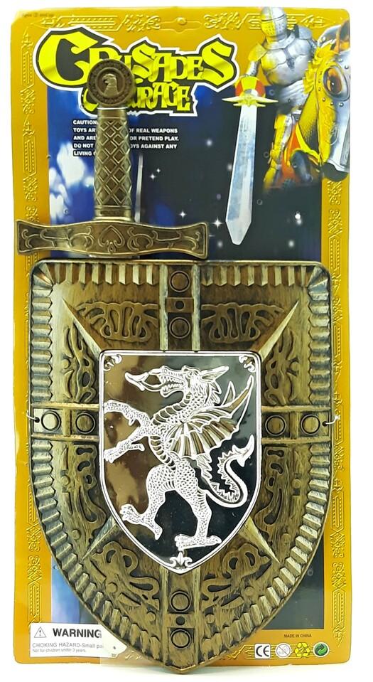 Meč so štítom 45cm