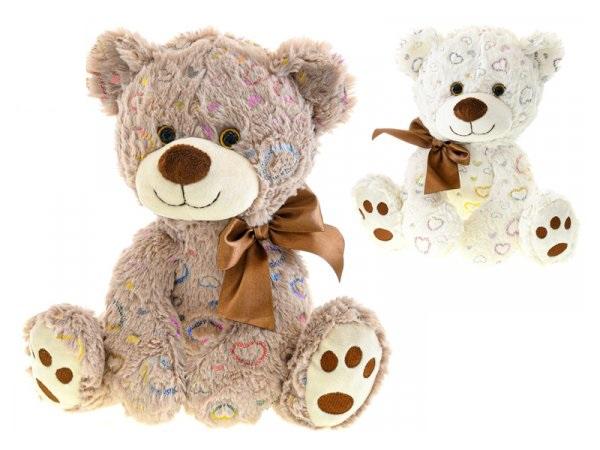 Plyšový medveď Star Sparkle 25cm - biela