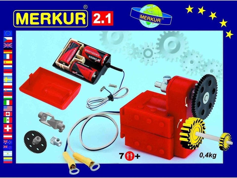 Stavebnica Merkur Elektromotor M 2.1