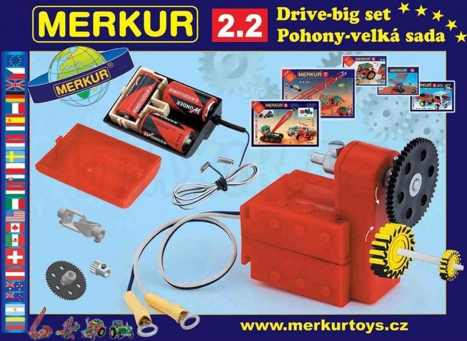 Stavebnica Merkur M 2.2 Elektromotor a prevody