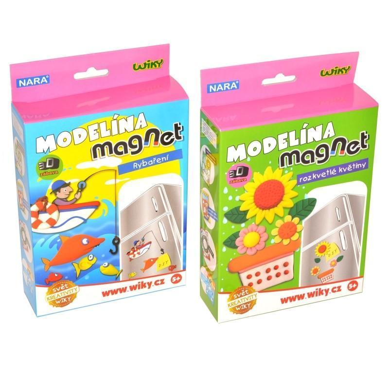 Modelína Nara 5-farebná tvrdnúca Magnetky