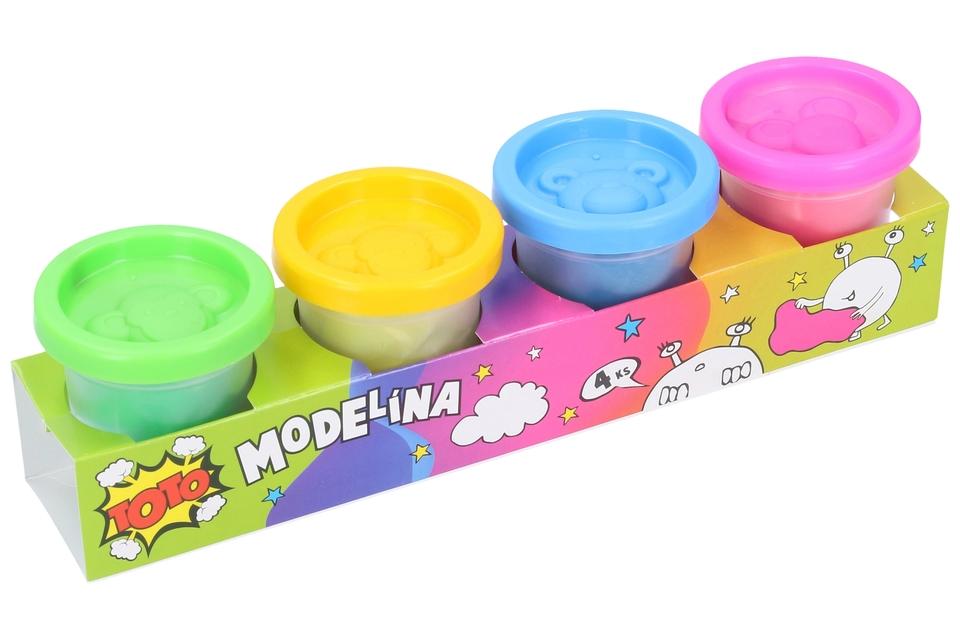 Modelína neónová 4 farby
