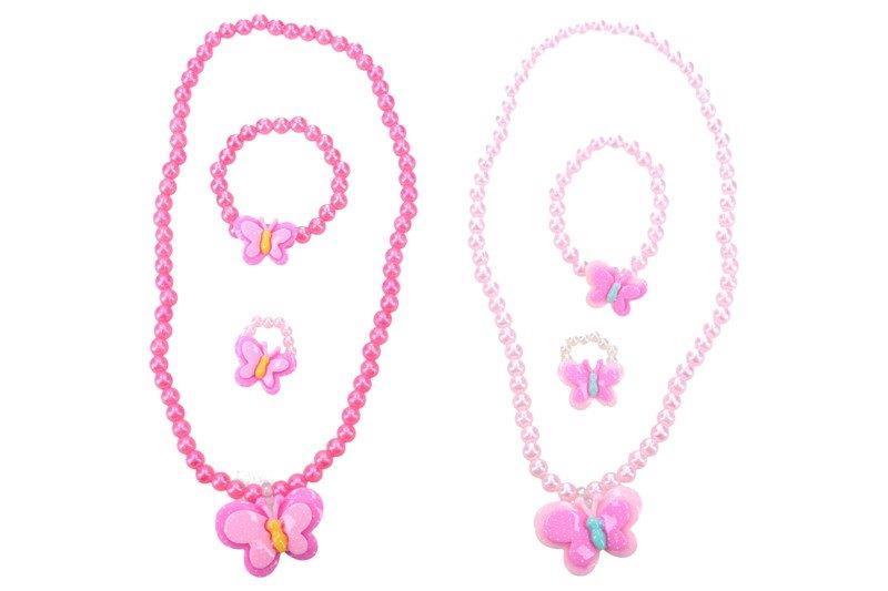 Módne doplnky s motýlikom náhrdelník, prsteň, náramok - náhodná