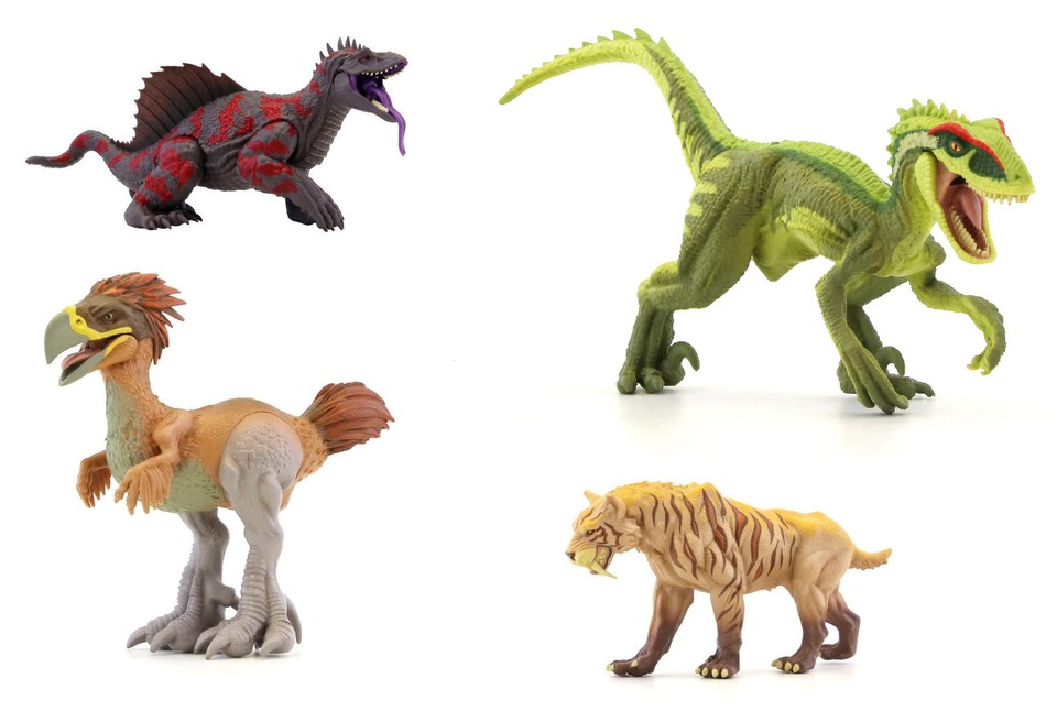 Jurassic Clash Praveká monštrá 14cm - Raptor
