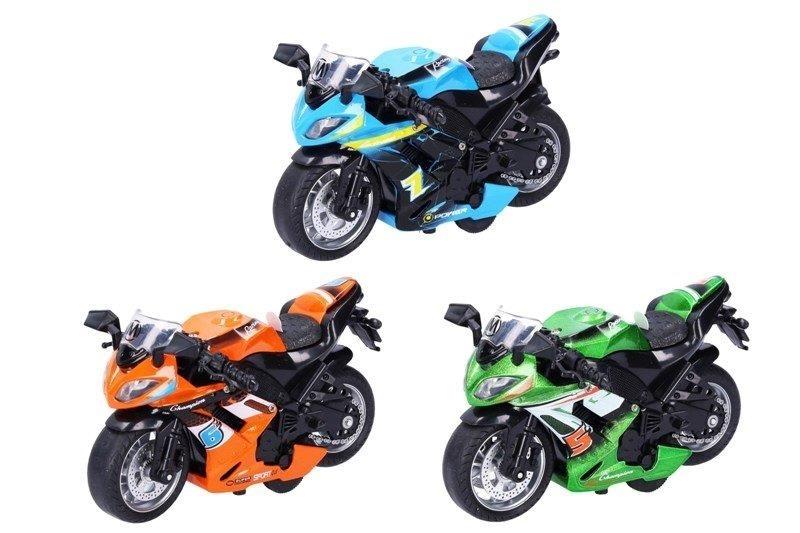 Motorka kovová 11,5cm - zelená