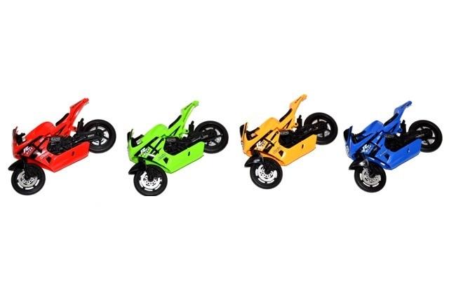 Motorka závodna 11cm - žltá
