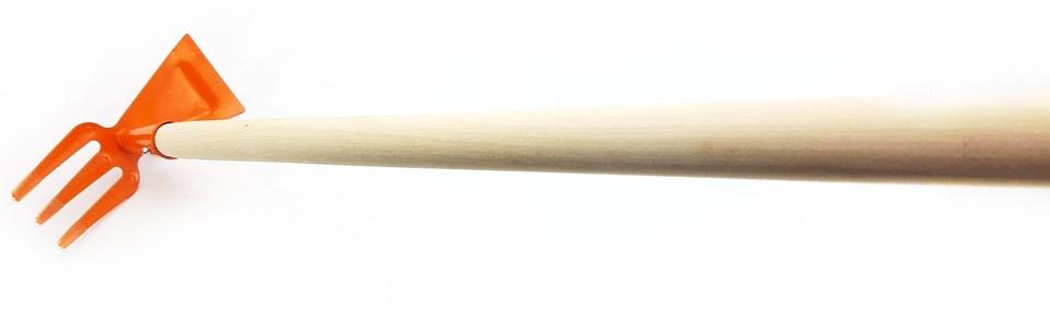 Motyka s násadou 75cm - oranžová