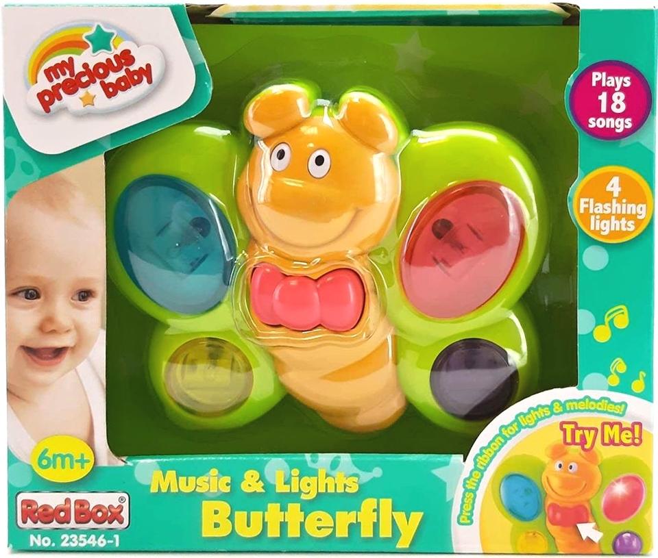 Motýľ na batérie pre najmenších