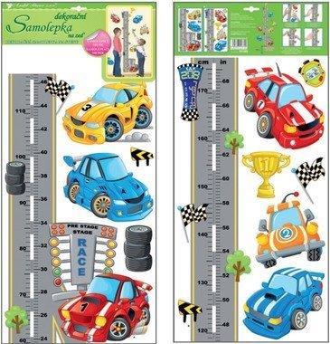 Nálepka meter - autá a diaľnica