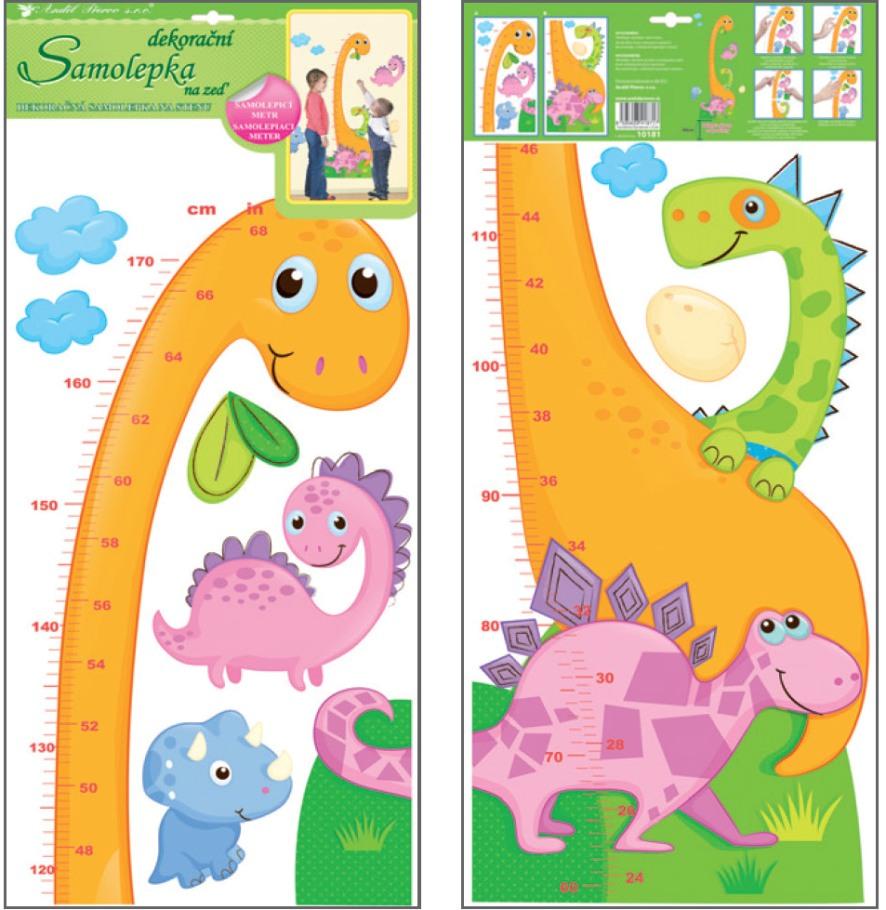 Nálepka - Meter dinosaurus