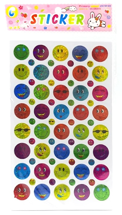 Ligotavé nálepky Emoji 10 listov