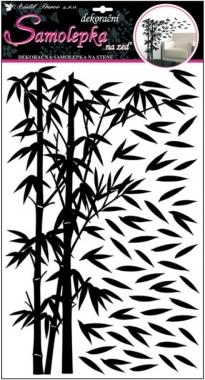 Dekoračná nálepka Bambus čierny