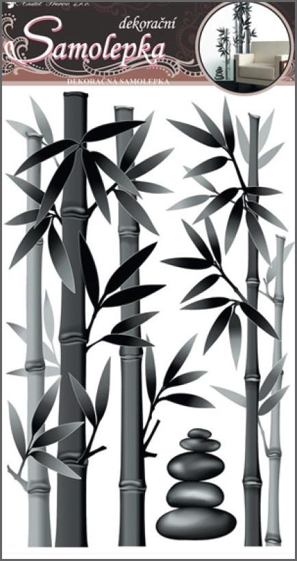 Nálepky bambus šedý