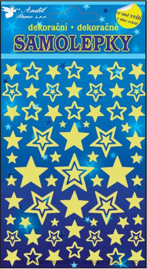 Nálepky hviezdičky svietiace
